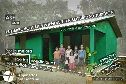 Ayuda a la construcción de viviendas en Guatemala